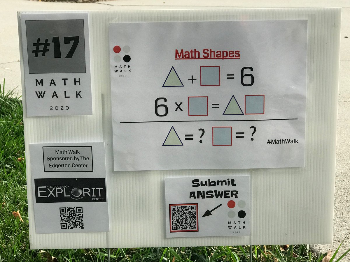 Second to last ONLINE #MathWalk problem. If you'd like to solve more, and live close enough to Cole Park (Aurora, NE), you can solve ALL 20 problems on site! https://t.co/YdjOQrm972 #mathchat #msmathchat #mtbos #nebedu #aurorahuskies #tlap #iteachmath https://t.co/sqJTccoug9