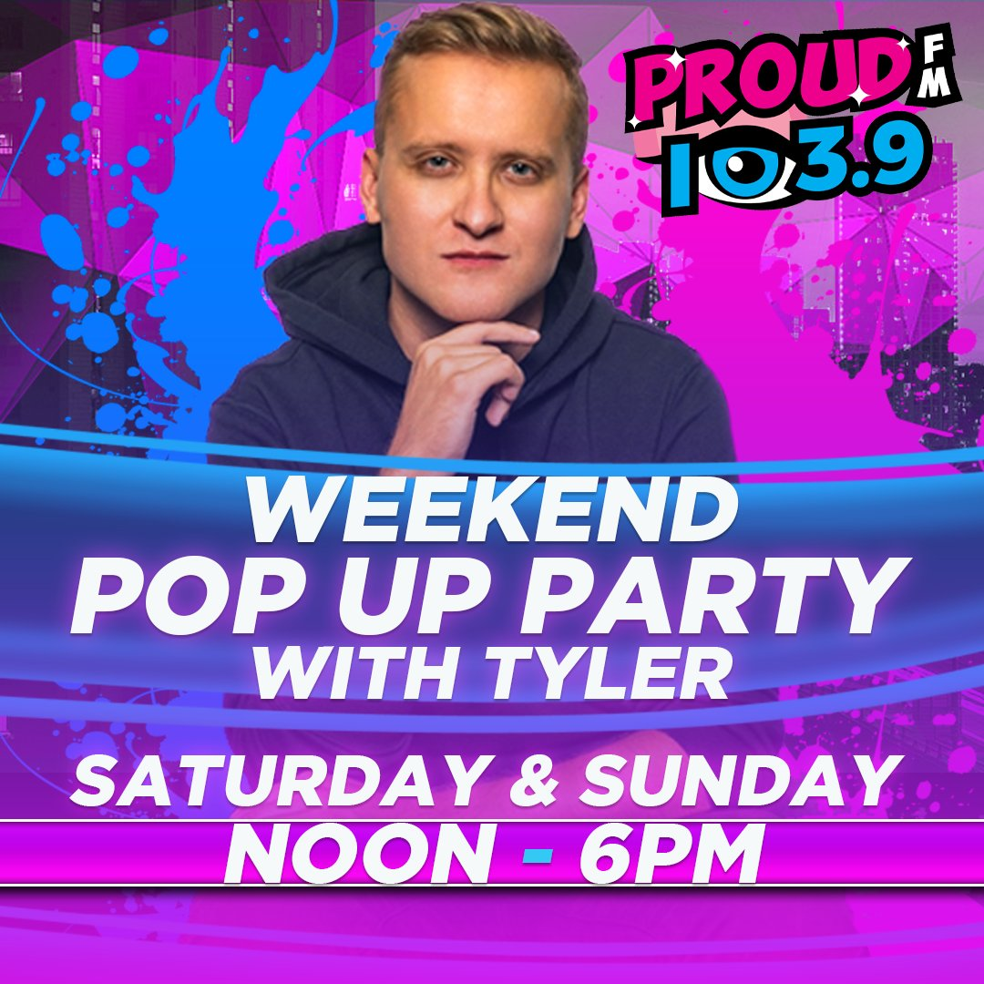 Our new boy TYLER takes over the PROUD FM mic all weekend long!  He starts at Noon today!  Check it out! https://t.co/sUTNt4lFRR