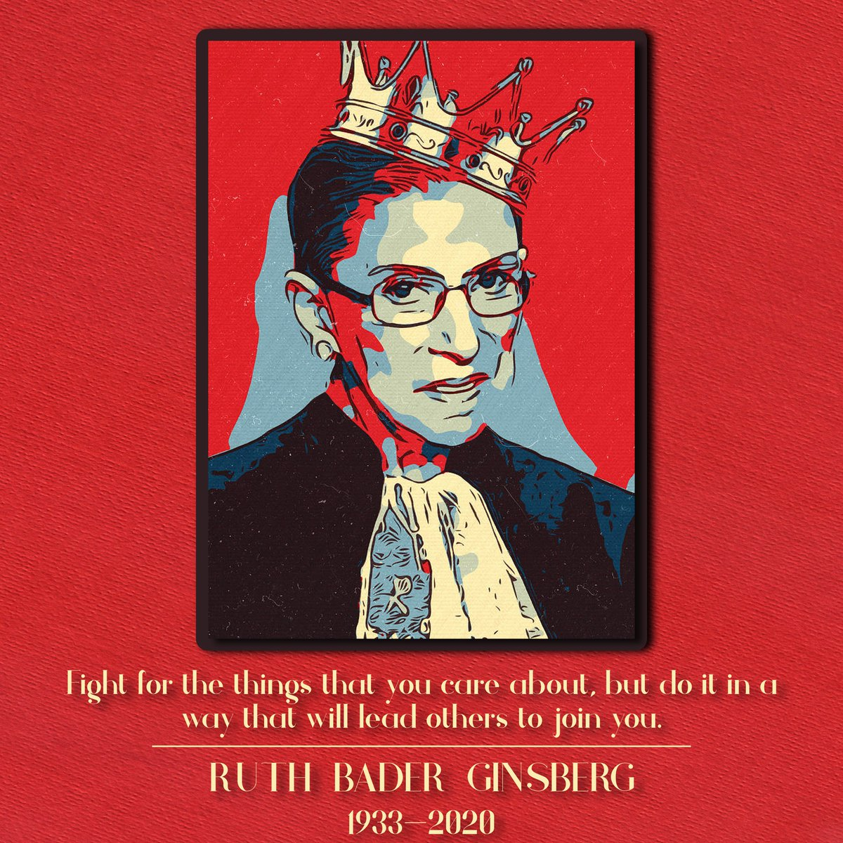 U.S. supreme court #justice Ruth Bader Ginsburg died on18th September,2020.She raised her voice against #discrimination and demanded #equality.She'll always be remembered! #RuthBaderGinsberg #RIPRBG #NotoriousRBG #RIPRuthBaderGinsburg #RestInPowerRBG #RBG #Womenite #changemakers https://t.co/7bvRRMajkg