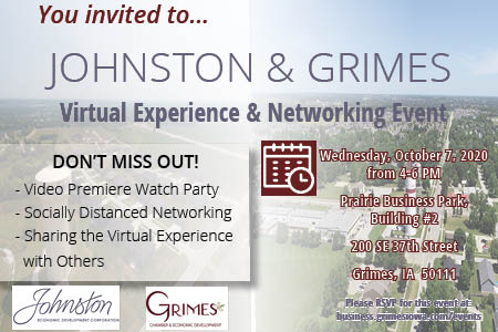 Looking for a safe networking event? Come to the Johnston & Grimes Virtual Experience and Networking Event! Learn more about the even and how to register here: https://t.co/srobJkvLzA #networking #virtualexperience #DSMUSA https://t.co/GrMVn51wJr