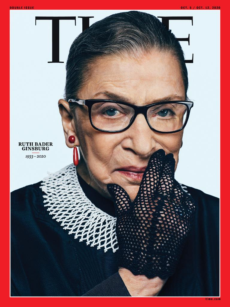 TIME's new commemorative cover: Ruth Bader Ginsburg, 1933-2020 https://t.co/ziZPGBndos https://t.co/kvulps3vdu