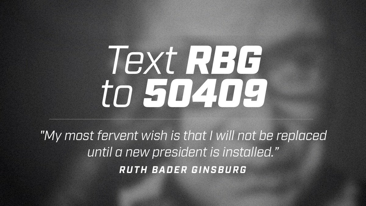 ☝️ Tap https://t.co/kFVpiAA5fd ✌️ Send the DM, follow the prompts; or 📱 Text RBG to 50409 https://t.co/4y2TWH4lJk