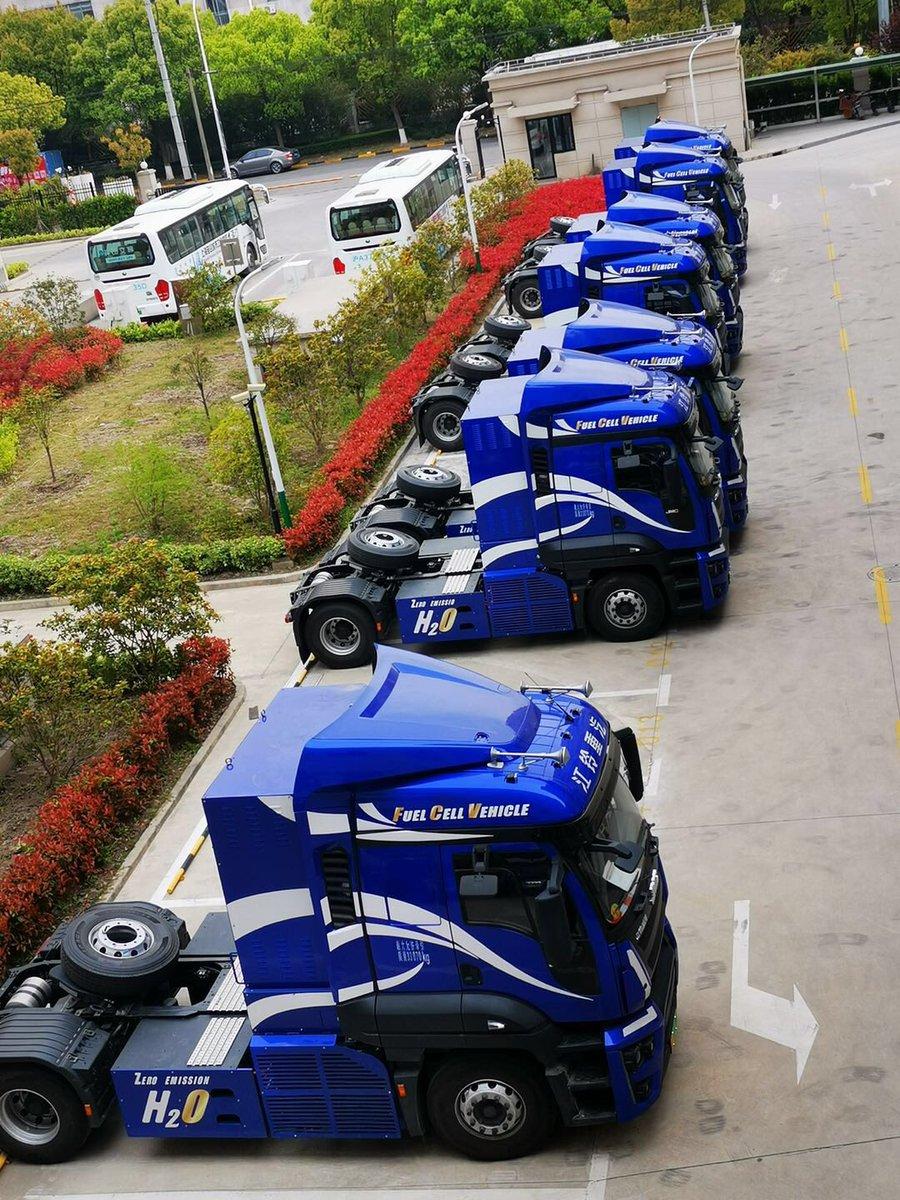 Ondertussen in China gaat de waterstof trucks productie volgas door. #JMC partner van Hyzon Motors. China verlaat EV tijd perk en stapt massaal over naar waterstof https://t.co/cLAuyXJsqX