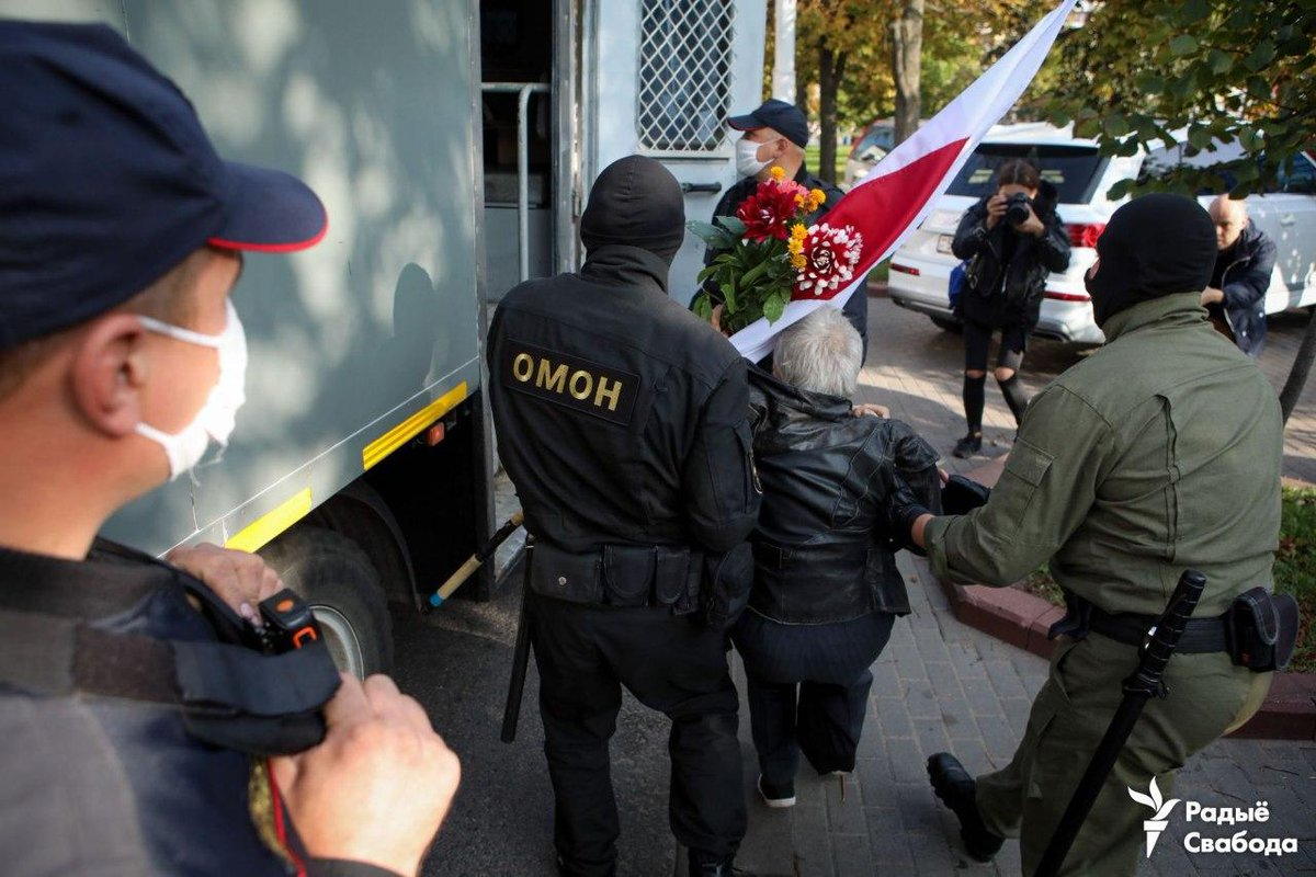 "Franak Viačorka's tweet - ""Remember 73-years old Nina Bahinskaya? Today she was detained. Watch her story on @BBCWorld - "" - Trendsmap"