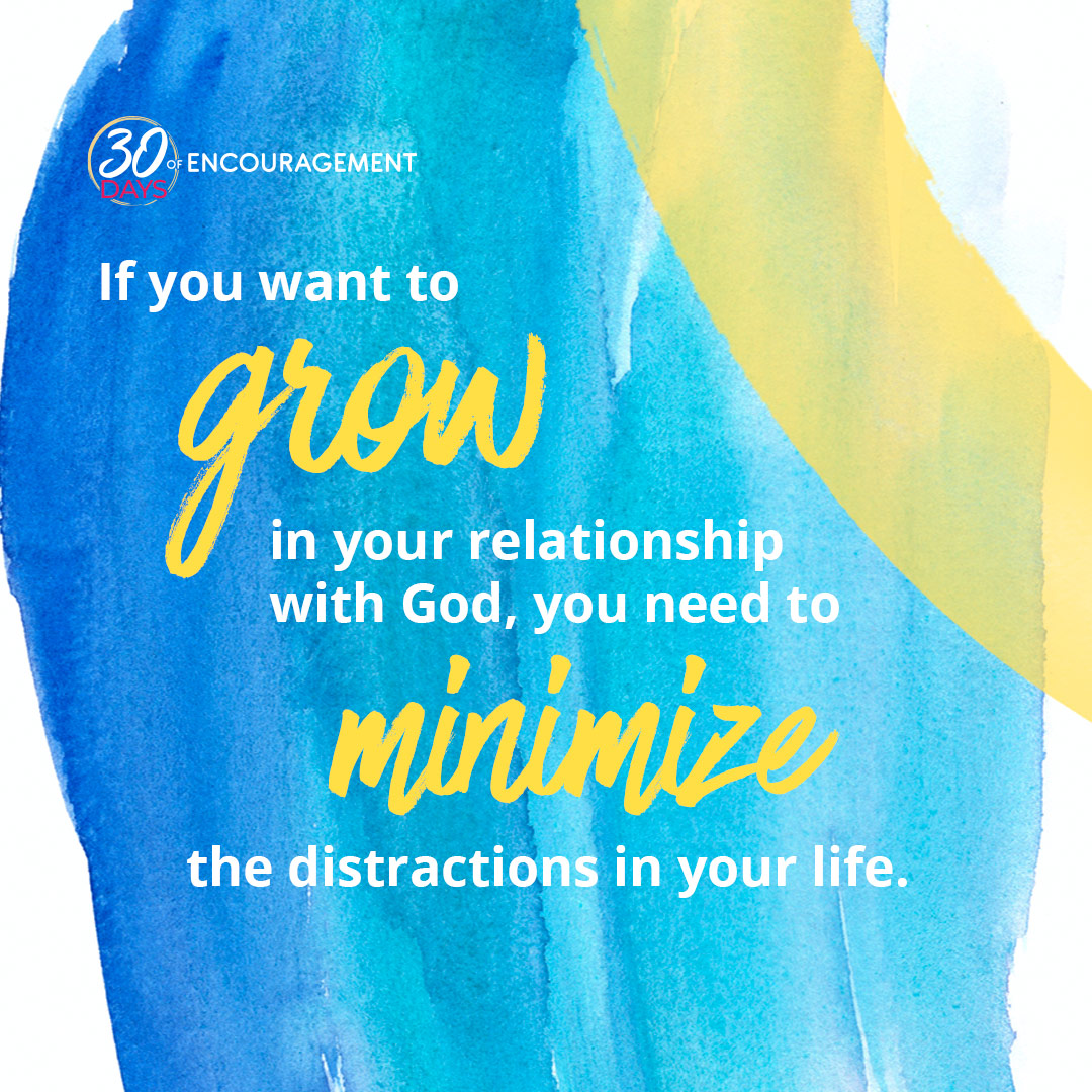 """""""God wants to talk to you. Don't put Him on hold.""""  How do you minimize distractions in your life? Read today's devo and #BeEncouraged by these tips! https://t.co/k8fI4E6AEY https://t.co/iPPAB3ilwX"""
