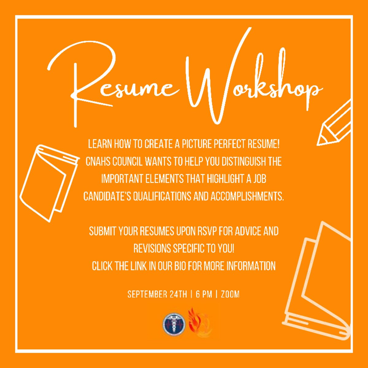 Get ready to have the picture perfect resume 📸 Join CNAHS Council as our E-Board gives you the building blocks to create a resume that will make your next applications spark⚡️ RSVP through the link in our bio. You don't want to miss this!
