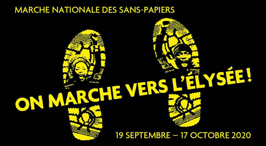 Today Sans-Papiers - undocumented immigrants – began their four week march across France converging in Paris on 17 October, to demand #PapersForAll. More info https://t.co/cR7tYlKn9c https://t.co/fmQNnD7DC4