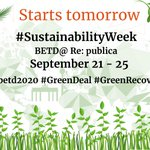 Image for the Tweet beginning: Reminder: Our #SustainabilityWeek starts tomorrow,