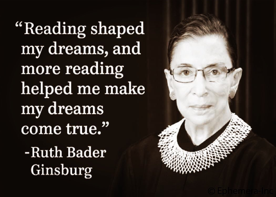 Today An Unlikely Story mourns the loss of Ruth Bader Ginsburg, a pioneer and lifelong champion of women's rights. Her grace and power will be remembered, and her impact will never be forgotten. Rest In Peace. #RestInPowerRBG