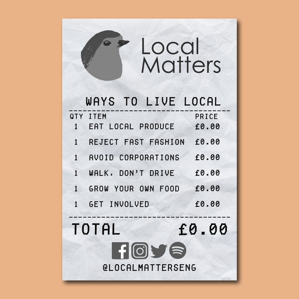 It's easier than you think to reject global markets and promote your local community.  Interested in getting involved? Message the account for more info on how to get into our discussion chat!  #Localism #Environmentalism #LocalCommunity #England #Consumerism #Identity https://t.co/WKO9KORvxp