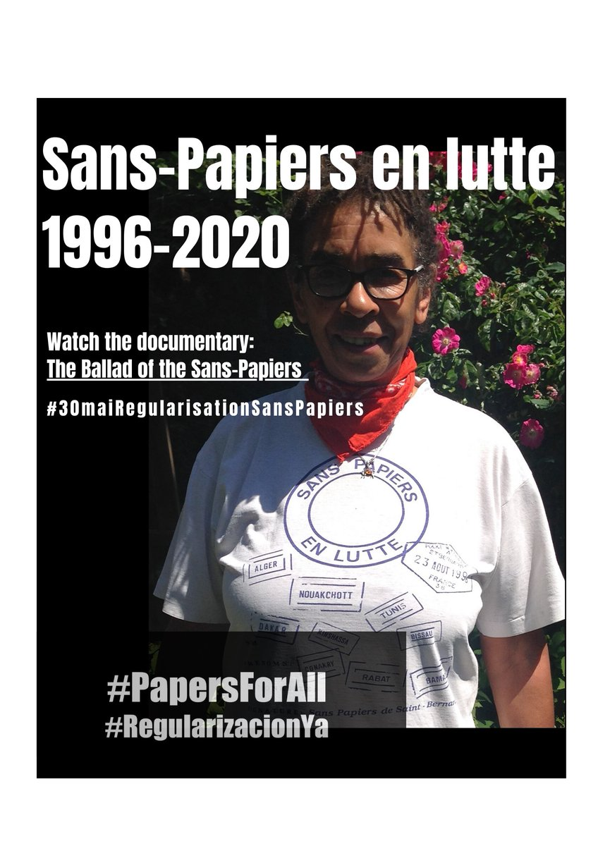 Fantastic Sans-Papier history! See how African women led the 1996 movement. And women are central to #PapersForAll movement today.#RegularizacionYa-   @AfricanGr @GJRSite https://t.co/f6BvibNr6x