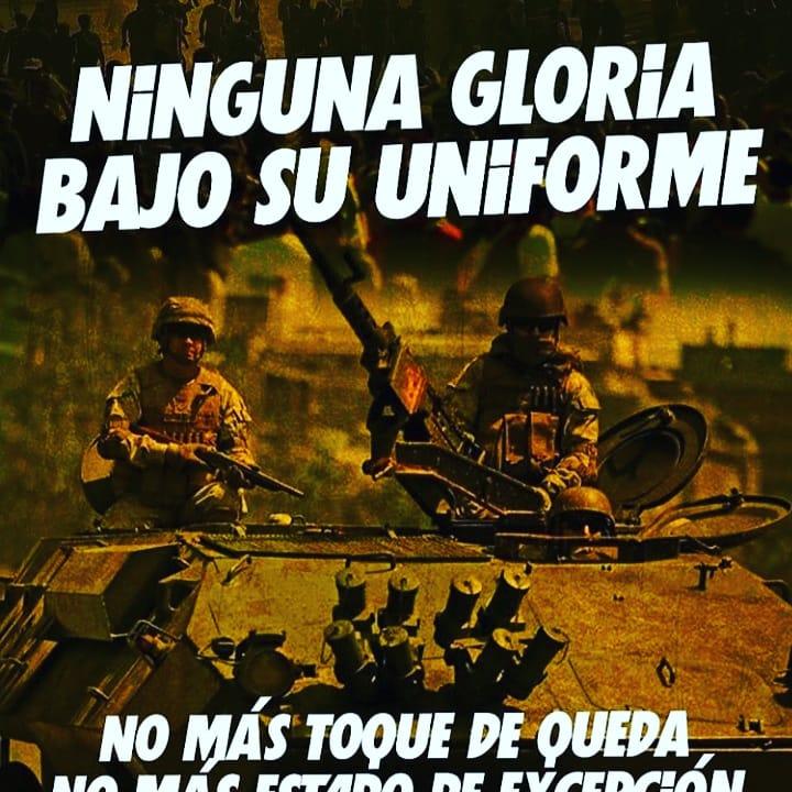 Milicos a sus cuarteles!   Verdad y justicia para las víctimas de la represión en las dictaduras de #Pinochet y #Piñera  #MilicosSinGloria #FinAlToqueDeQueda https://t.co/bUrcSnCykE