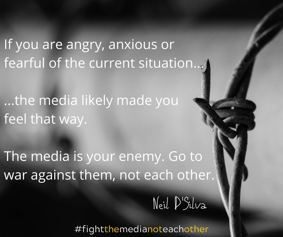 #fightthemedianoteachother  #media #news #covid19 #coronavirus #coronaviruspandemic #mentalhealth #mentalhealthmatters #mentalhealthadvocate https://t.co/ufyXKWa89P