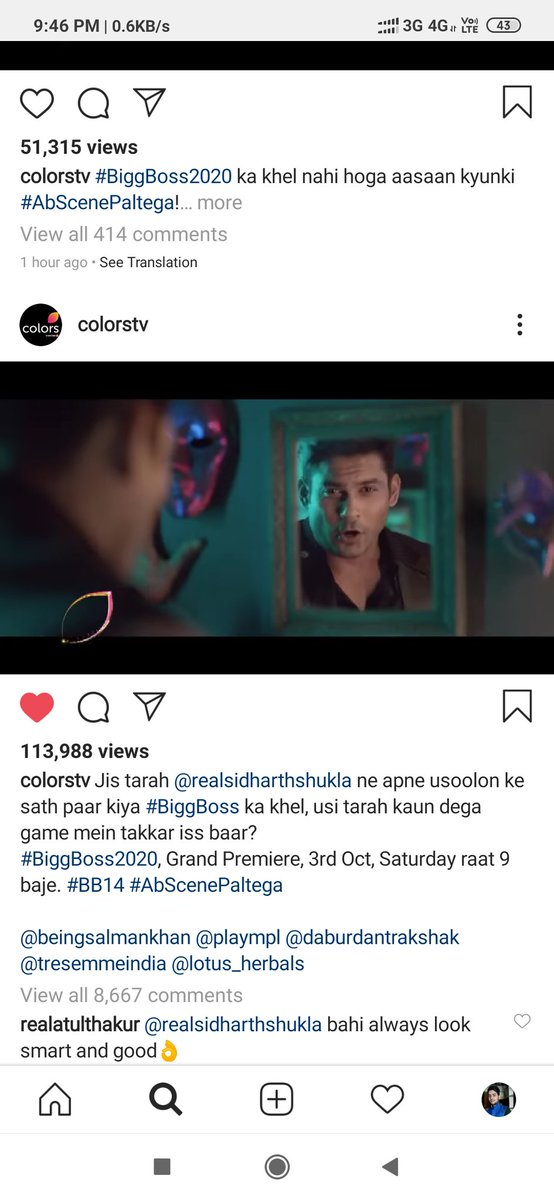 Guys @sidharth_shukla bahi ka bigg boss promo video is put on instagram on #colorstv page please go and like and comment on it. #SidharthShukla https://t.co/ztge9IfoCB