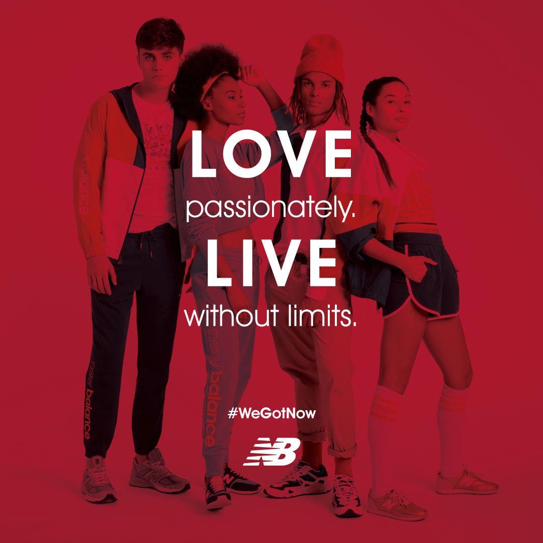 Ama con pasión. Vive la vida sin límites.💥💥💥  ¡Feliz Día del Amor y la Amistad!   #WeGotNow #NewBalanceCO #AmorYAmistad https://t.co/Trx82ShwDy