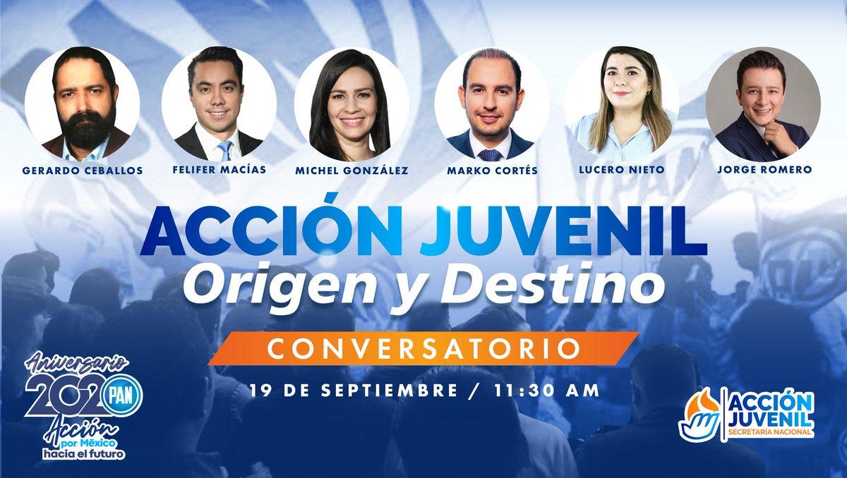 """Comenzamos con el conversatorio """"Acción Juvenil: Origen y Destino"""".  Únete👉 https://t.co/IxwUuVJY9r https://t.co/vpiQxyDcve"""