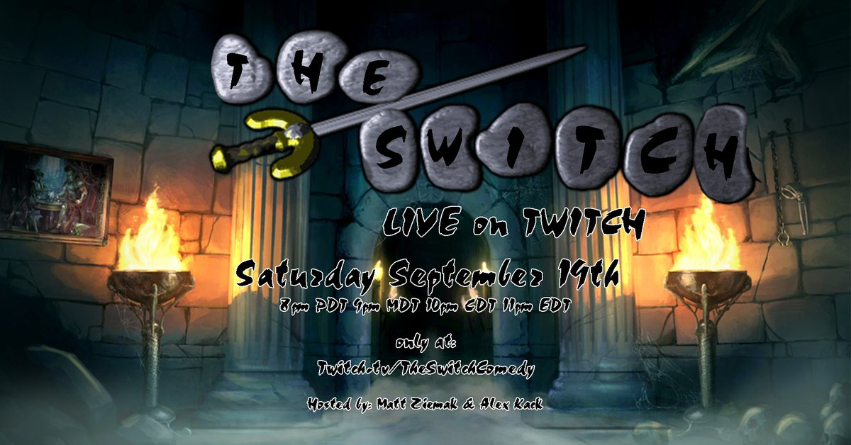 Tonight The Switch is LIVE on #Twitch!  Come text in some topics and watch comedians make those topics funny!  Show starts at 8pm AZ and it's FREE so like why not you know?   Only at: https://t.co/aogWV0FRKD (Follow now to know when we go LIVE)  Hosted by myself and @Alex_Kack https://t.co/7elGeZfJC6