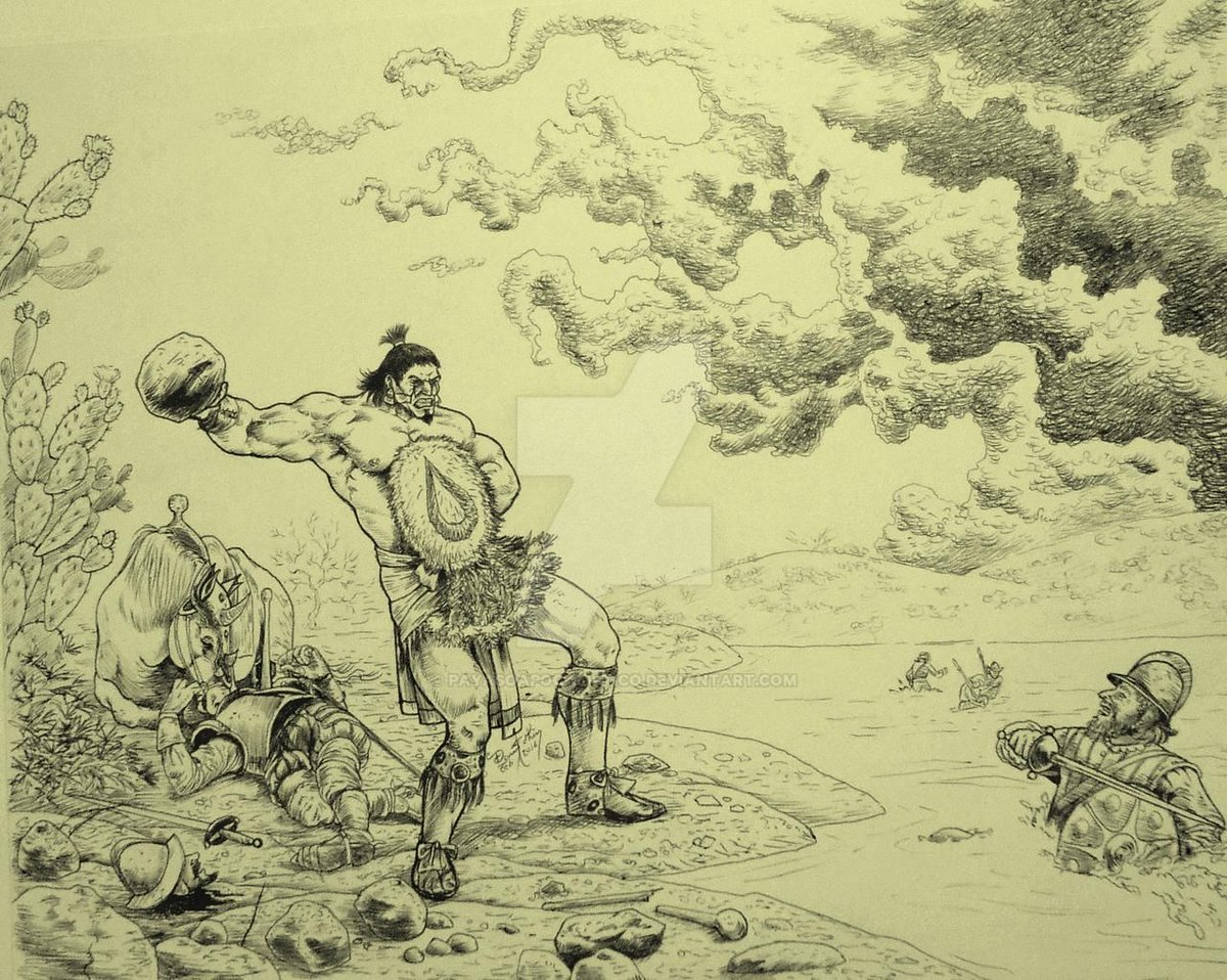 Tzilacatzin fue un guerrero Mexica de México-Tlatelolco su Nombre viene del #náhuatl Tzilacayo «Chilacayote» y el sufijo reverencial -tzin  Reinterpretación hecha por Payasoapocaliptico https://t.co/0jBp75Qd4C https://t.co/X76EyzIXHC