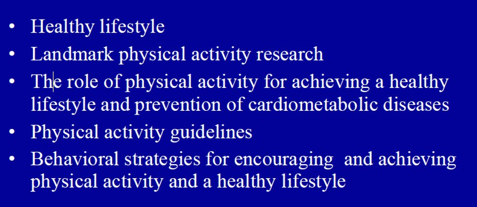 Critical importance of #exercise not only for cardiometabolic health but also for #healthy #aging both #aerobic and #resistance training Focus on #behavior