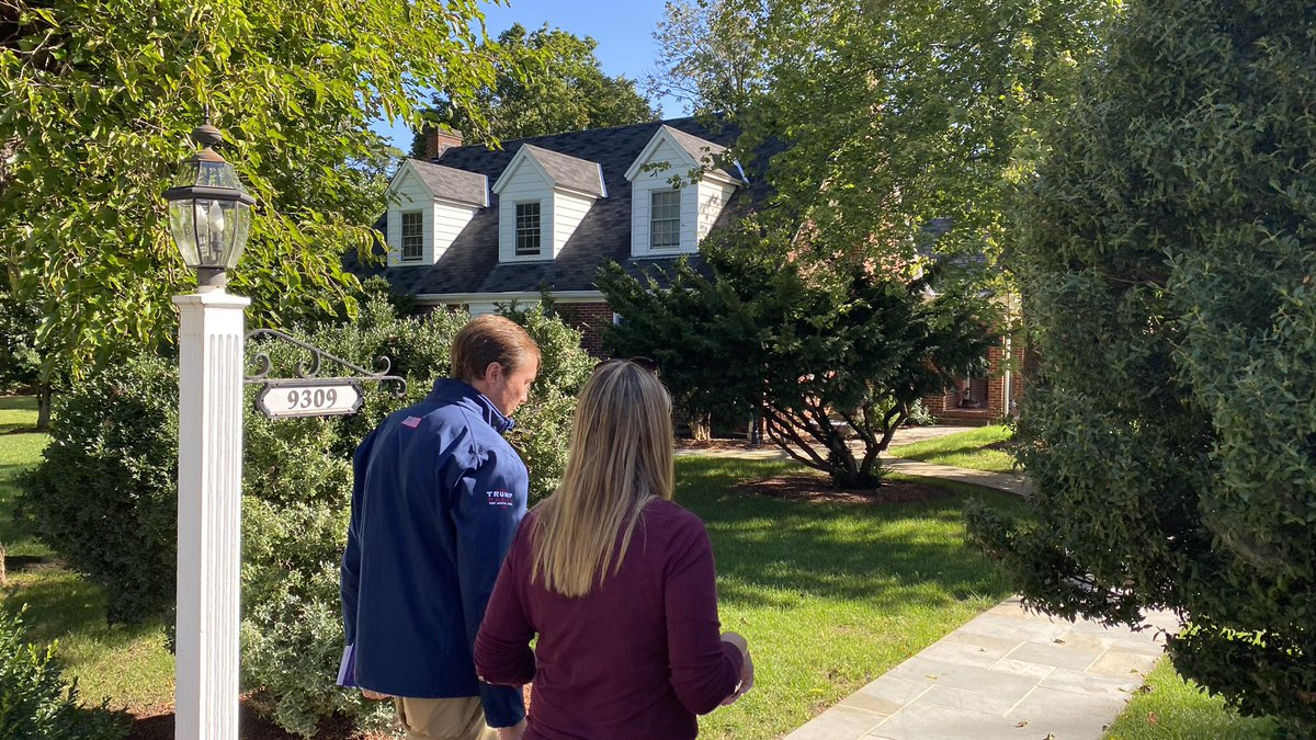 Thank you RNC Co-Chairman @TommyHicksGOP for coming out to knock doors with me in Manassas! Glad to have you on #TeamAndrews - Let's win this! #VA10