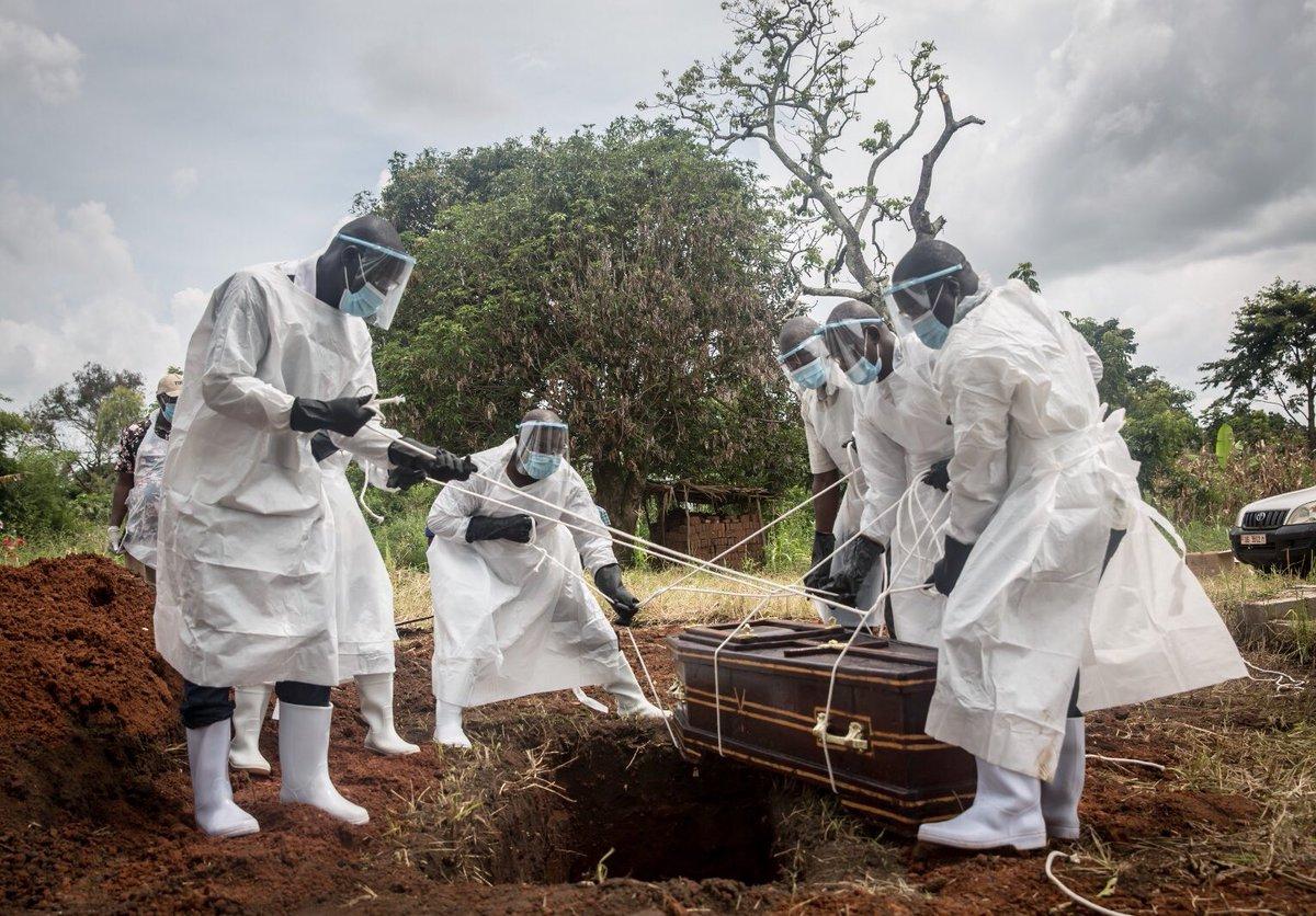 Coronavirus burial in northern Uganda, September 2020.
