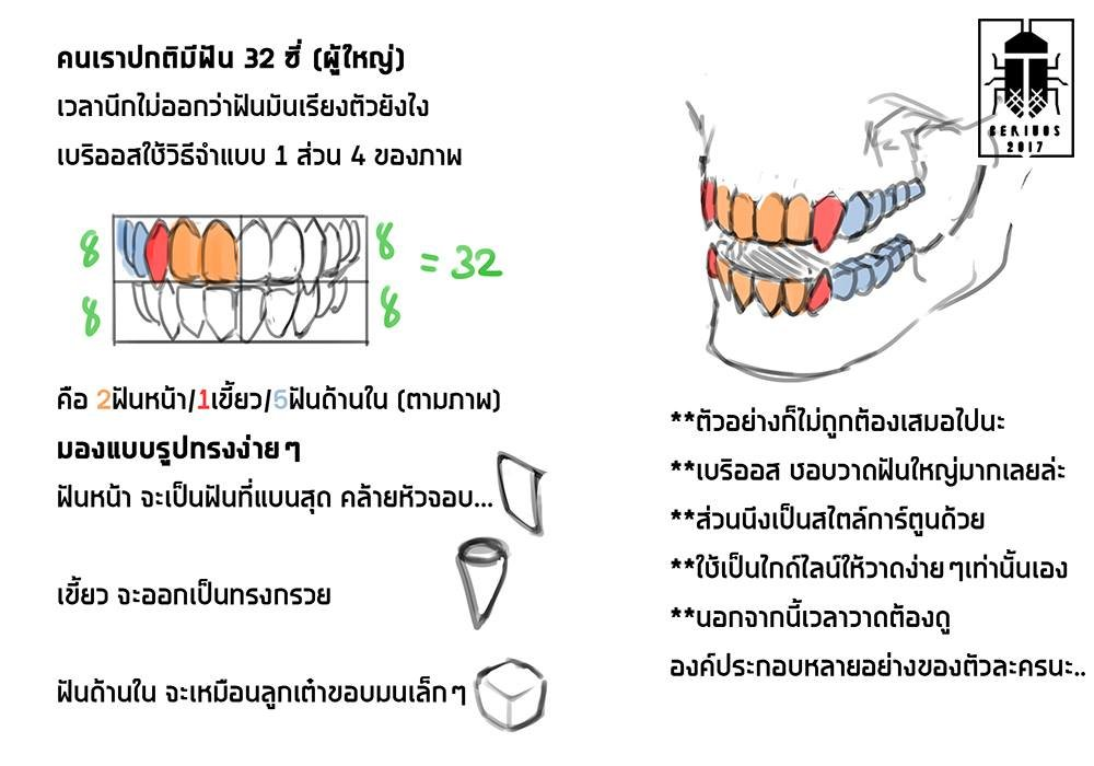 since my old acc is gone Ill just repost this old tutorial(?) how I draw teeth anyway this just a simple teeth. For more unique/various and more correct use the refs for better devolope design.