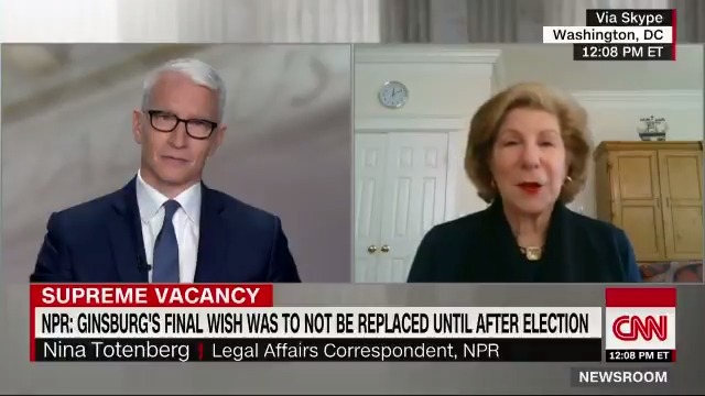 """She learned early to soldier on,"" NPR legal affairs correspondent @NinaTotenberg says about Ruth Bader Ginsburg. ""She just had a policy: I dont do depression. I move on."" cnn.it/3hPGlyG"