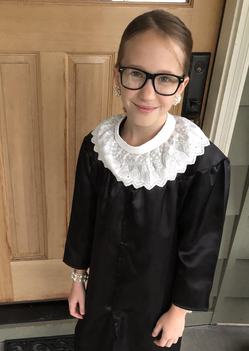 Two years ago she watched the documentary RBG... and that was it for her. I hated to tell her the news yesterday. Godspeed to Ms. Bader Ginsburg and thank you for inspiring our girls to be smart, independent and a force to be reckoned with. #RIPRBG https://t.co/LMi7ZorF28