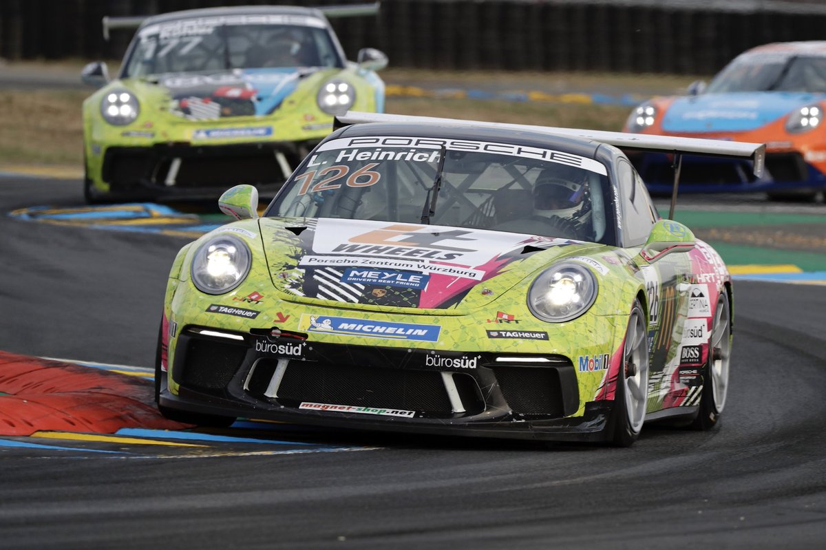 PODIUM in my first @CarreraCupDE race... P4 overall in the PCC Le Mans Race together with the French Carrera Cup 🤩 Incredible... As a rookie now also P1 in rookie standings #CarreraCupDE #PCCLeMans #PCCD https://t.co/KojQjd8t7b