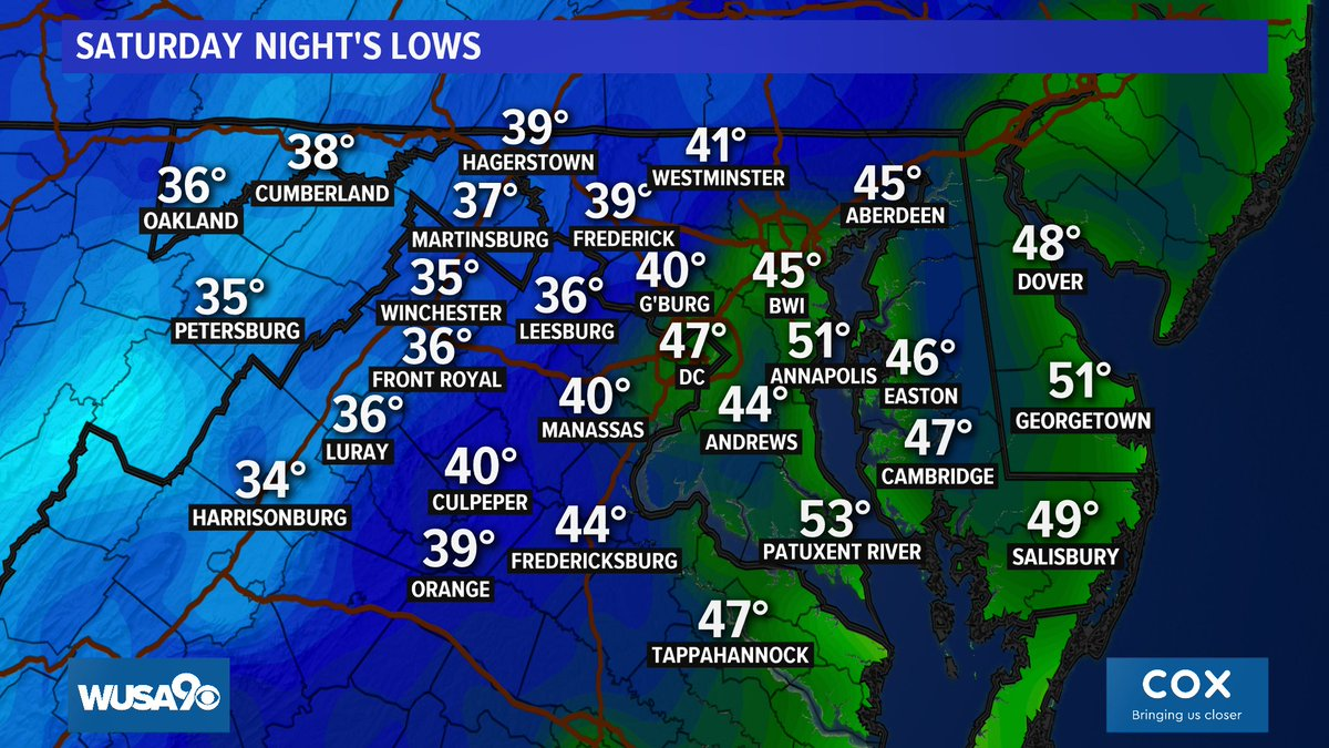 We'll drop back into the 40s AGAIN in metro #DC tonight---> https://t.co/KUHKNnr3Cp @wusa9 @hbwx @TenaciousTopper @MiriWeather #DCwx #MDwx #VAwx #WUSA9Weather #WashingtonDC  #DMV https://t.co/rhA9mK4vLd