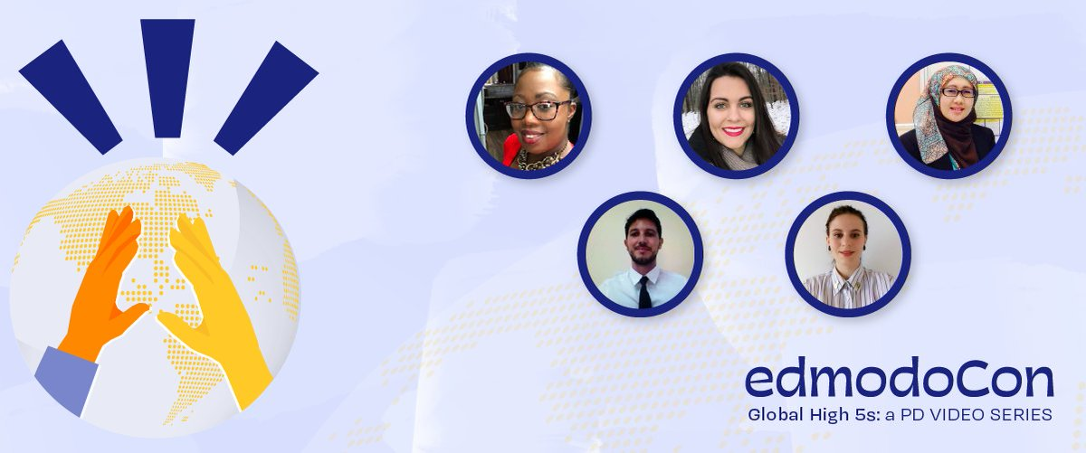 🍎 Check out Season 1 of #EdmodoCon Global High 5s Video Series featuring 5 educators sharing in 5 mins strategies for #distancelearning #projectbasedlearning #flippedlearning #remotelearning.  🖥️ https://t.co/ozOx83KQ2a  🏆Earn your certificate at https://t.co/1ZFsC3Maut https://t.co/8VlmvHjNA8