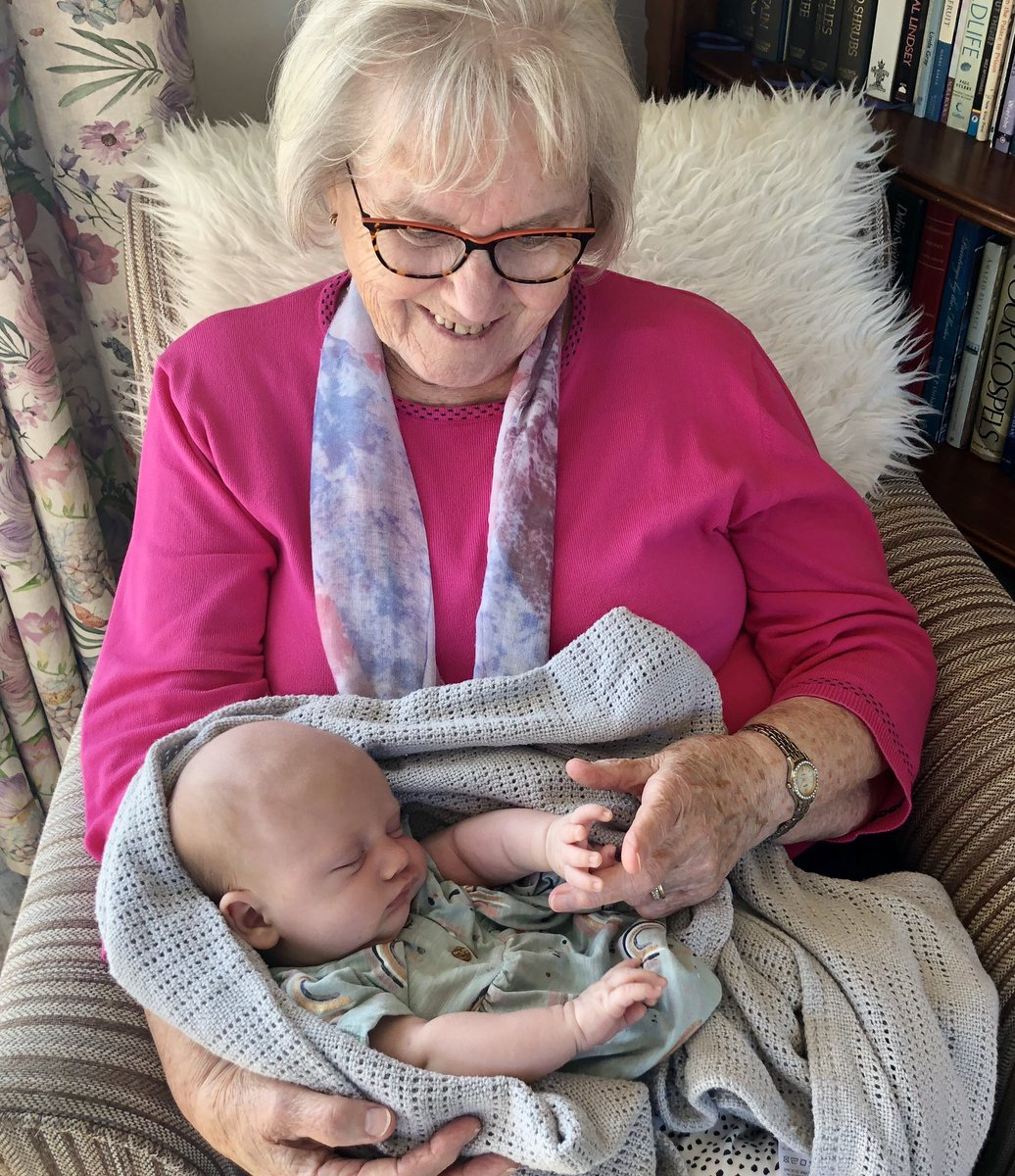 Two very special ladies: my mother and my granddaughter - her 14th great grandchild. It's true. Family is everything. ❤️#FourGenerations