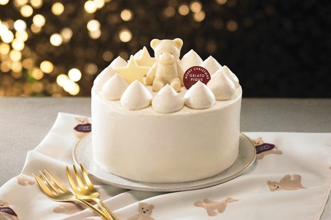 """[明日発売] ジェラート ピケ初のクリスマスケーキがセブンーイレブンに登場、""""真っ白""""クリームに飾られた紅茶ケーキ -"""