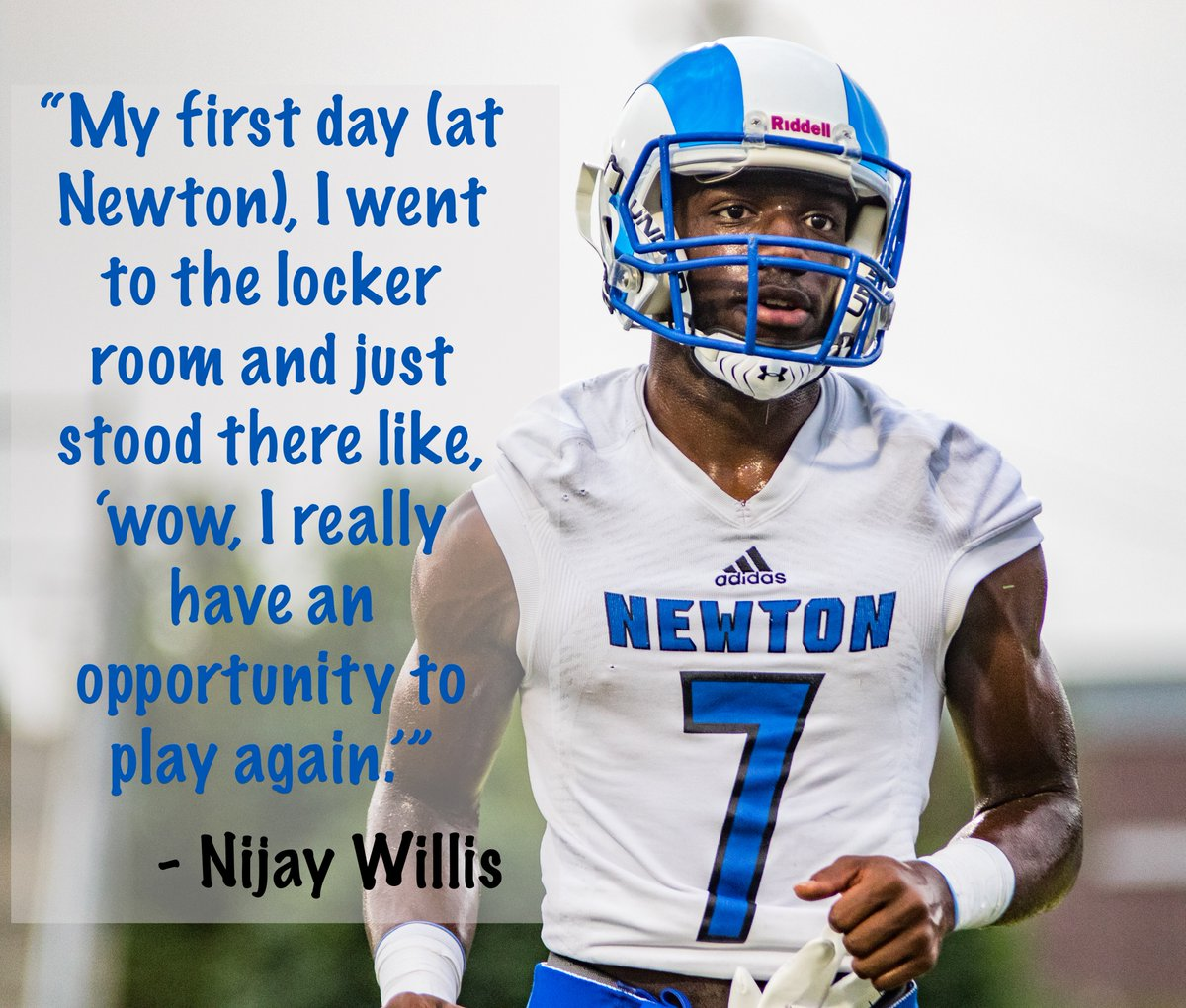 Rockdale superintendent @terryoatts thought he could prevent student-athletes from playing football this fall.   Not so fast!!   @W1lli5 proudly represented Rockdale County for the past three years. Last night, he made his debut at Newton, Rockdale's rival, and balled out. Proud! https://t.co/qZKnJXPT7o