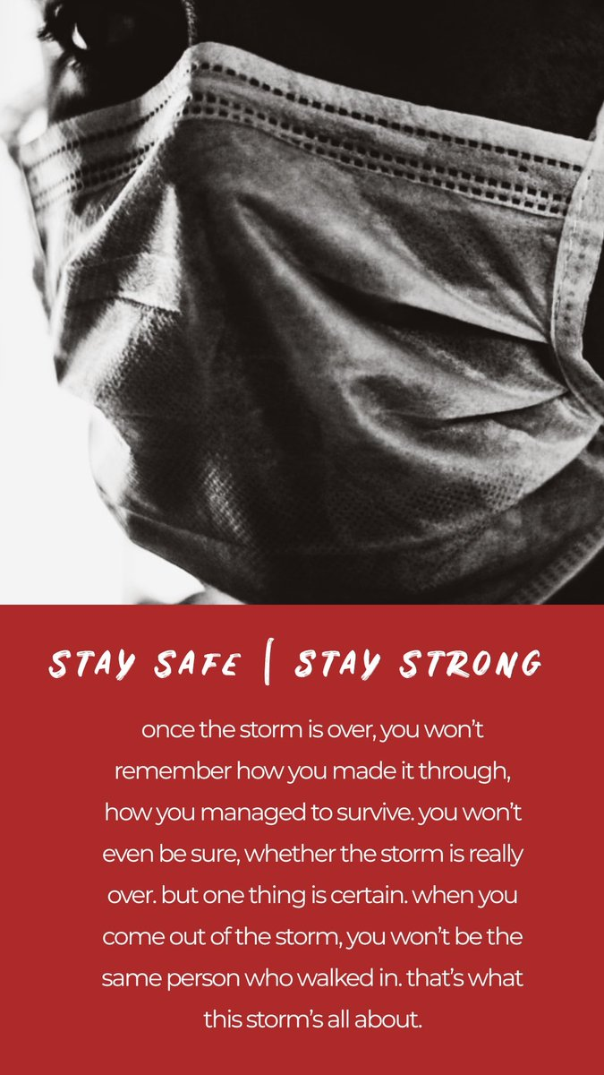 Stay Safe | Stay Strong #CoronavirusIndia #COVID19 #StayHome #StaySafe #StayStrong https://t.co/8f9d4Mw4Zq