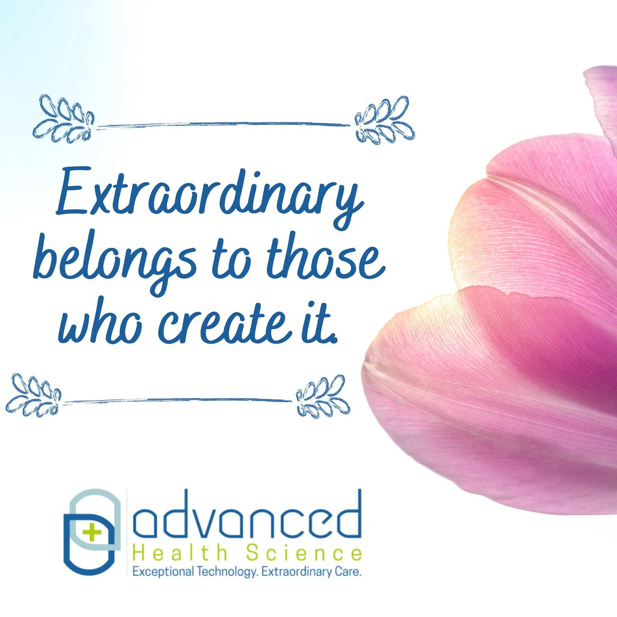 We hope you are all having a restful and extraordinary weekend! 😊  #AdvancedHealthScience #ExceptionalTechnology #ExtraordinaryCare #AHS #StayHealthy #StaySafe #SaturdayVibes https://t.co/yygcrwW4Do