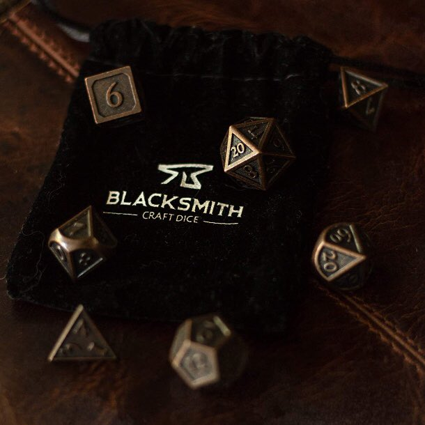 It's #DnDCelebration2020! To add to the festivities, we partnered with #blacksmithcraftdice for a giveaway! Don't miss your chance to win these amazing dice!  Tune in at 4pm PST & interact with the bot to enter. You don't need to be present during the announcement to win! https://t.co/bDZJQZJtUd