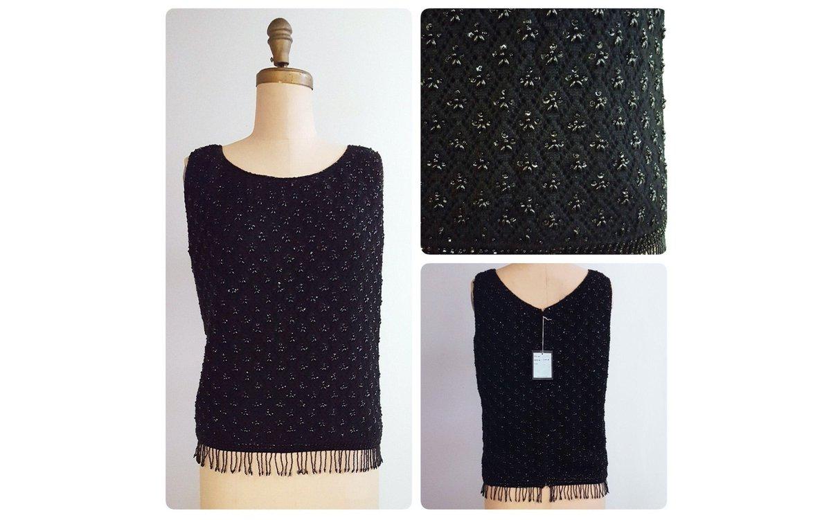 1960s sleeveless black wool beaded sweater | 60s beaded shell | New Old Stock NOS https://t.co/1QuzepcJL0 #fashion #retrouverbiz #vintagefashion #onlineshopping #Toronto #sustainable #vintageclothing #Vintagelifestyle https://t.co/N7Dk8I3yx0
