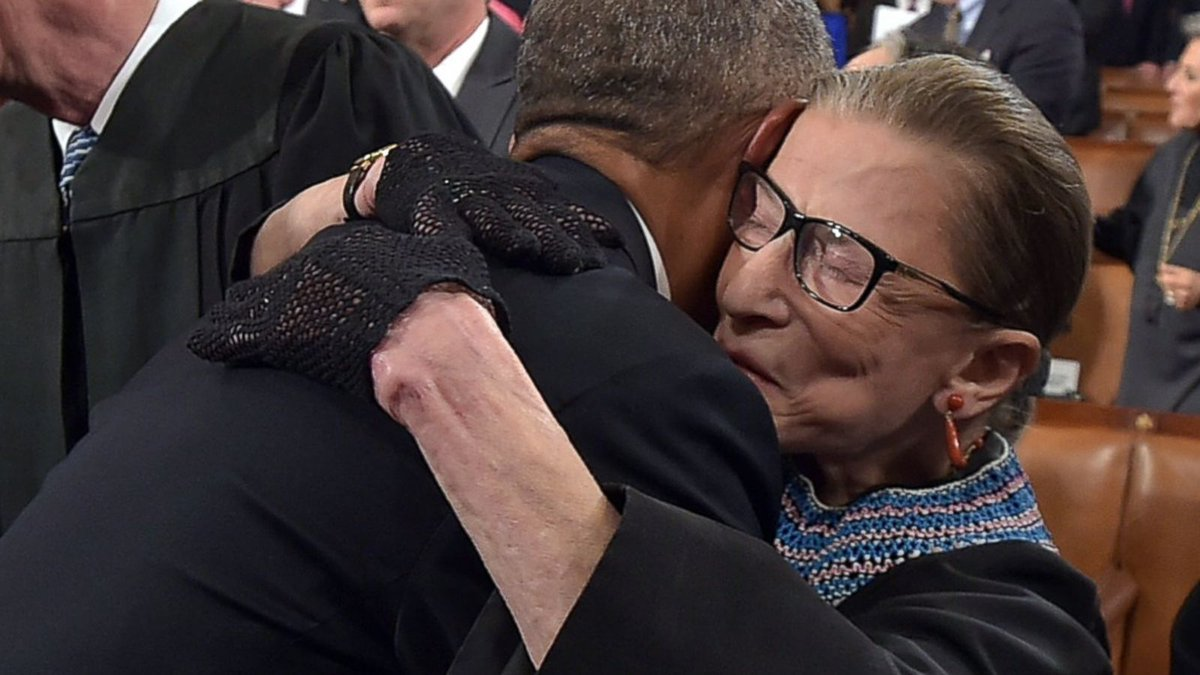 """""""Justice Ginsburg inspired the generations who followed her, from the tiniest trick-or-treaters to law students burning the midnight oil to the most powerful leaders in the land."""" — @BarackObama  https://t.co/hfm09Oiqsn #RGB #NotoriousRBG https://t.co/FP4vdWqBPw"""