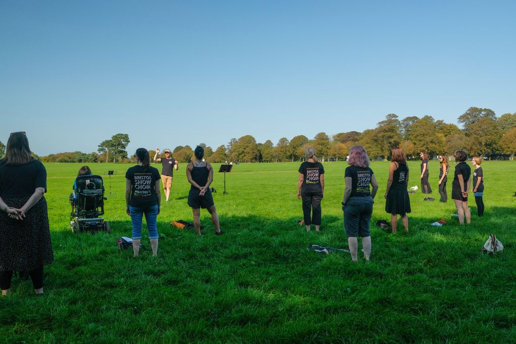 We LOVED our distant-SING on the downs last weekend!!! #choir #singing #warmup https://t.co/i6dLaqVFgM