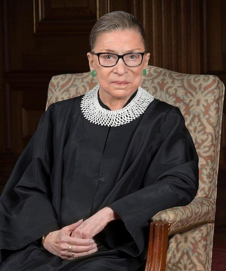 "Supreme Court Justice, Ruth Bader Ginsburg, A.K.A. ""The Notorious RGB."""