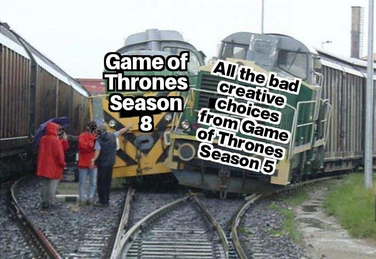Season Five is where the shows writing all began to slowly crumble. #GoT #GameofThrones https://t.co/uSOczSGZyf https://t.co/5yvqp2g6eW