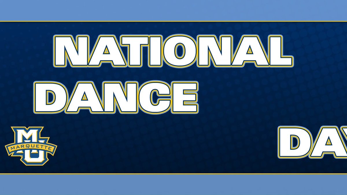 In honor of #NationalDanceDay, heres some behind-the-scenes footage of student-athletes showing off their best moves. #WeAreMarquette