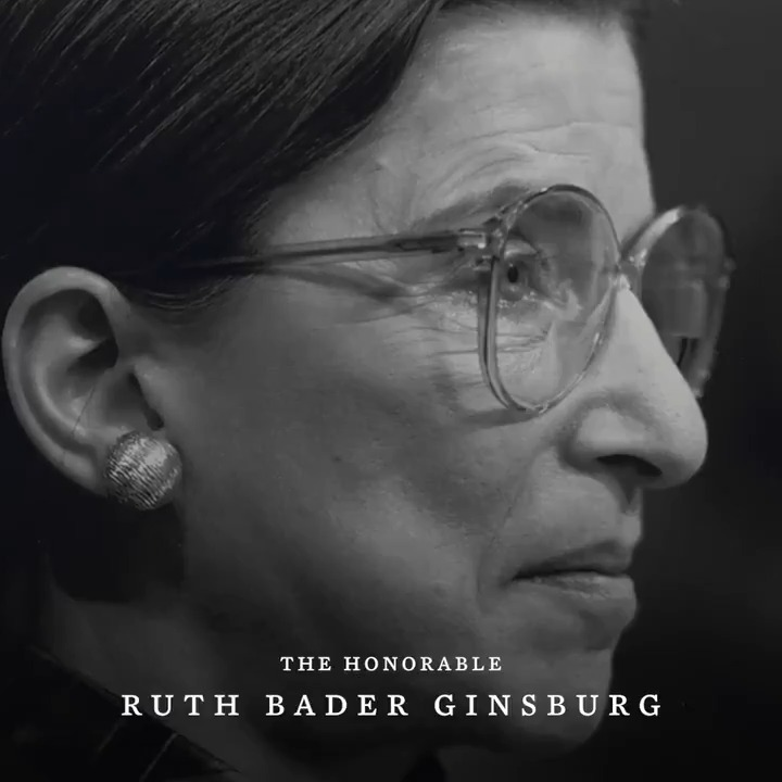 Image for the Tweet beginning: Justice Ginsburg was a relentless