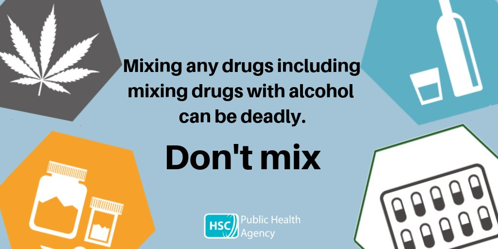 Mixing drugs can kill. It can increase the toxicity of the substances and cause organ failure.   Don't mix any drugs.   If you or someone you know has a problem with alcohol and/or substance misuse, support services in your local area can be found on https://t.co/IZMNGtfpNZ https://t.co/aGFKytyWs0