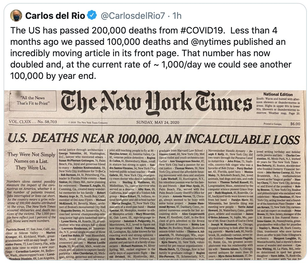@CarlosdelRios7 if the new #PatrioticEducation act is passed, perhaps we'll never hear about an increase in #CoronavirusDeaths or #Pandemics in general! https://t.co/chSz05qACv https://t.co/qHkzwnF31H
