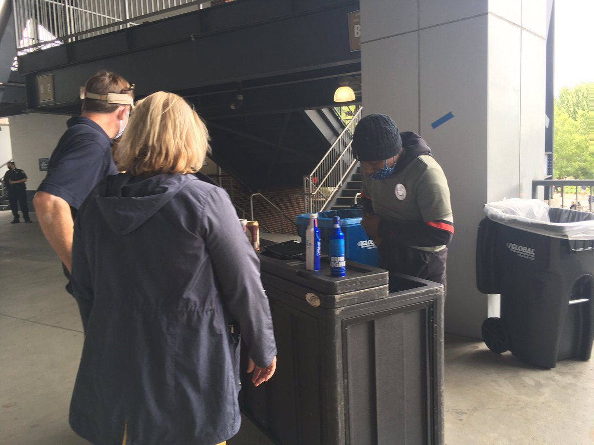 Alcohol for sale at Bobby Dodd Stadium, a first. The part about it being for sale, at least.