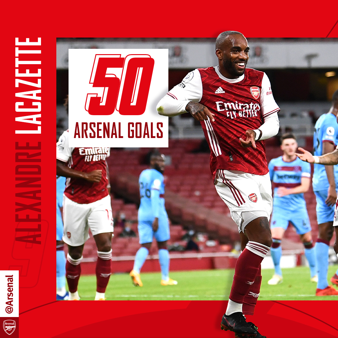 ✅ Another milestone hit Keep firing, @LacazetteAlex 🎯 #ARSWHU