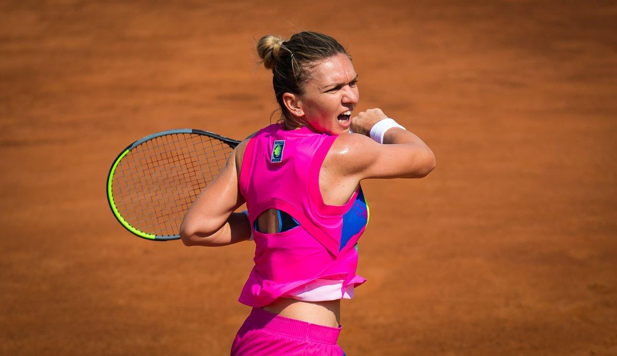Defending champion.  2 Roland Garros champions. Last year's Roland Garros finalist.   Semifinals Set @InteBNLdItalia:  [1] Halep vs. [9] Muguruza [2] Pliskova vs. [12] Vondrousova  #ibi20 https://t.co/d2h6LfQYLD