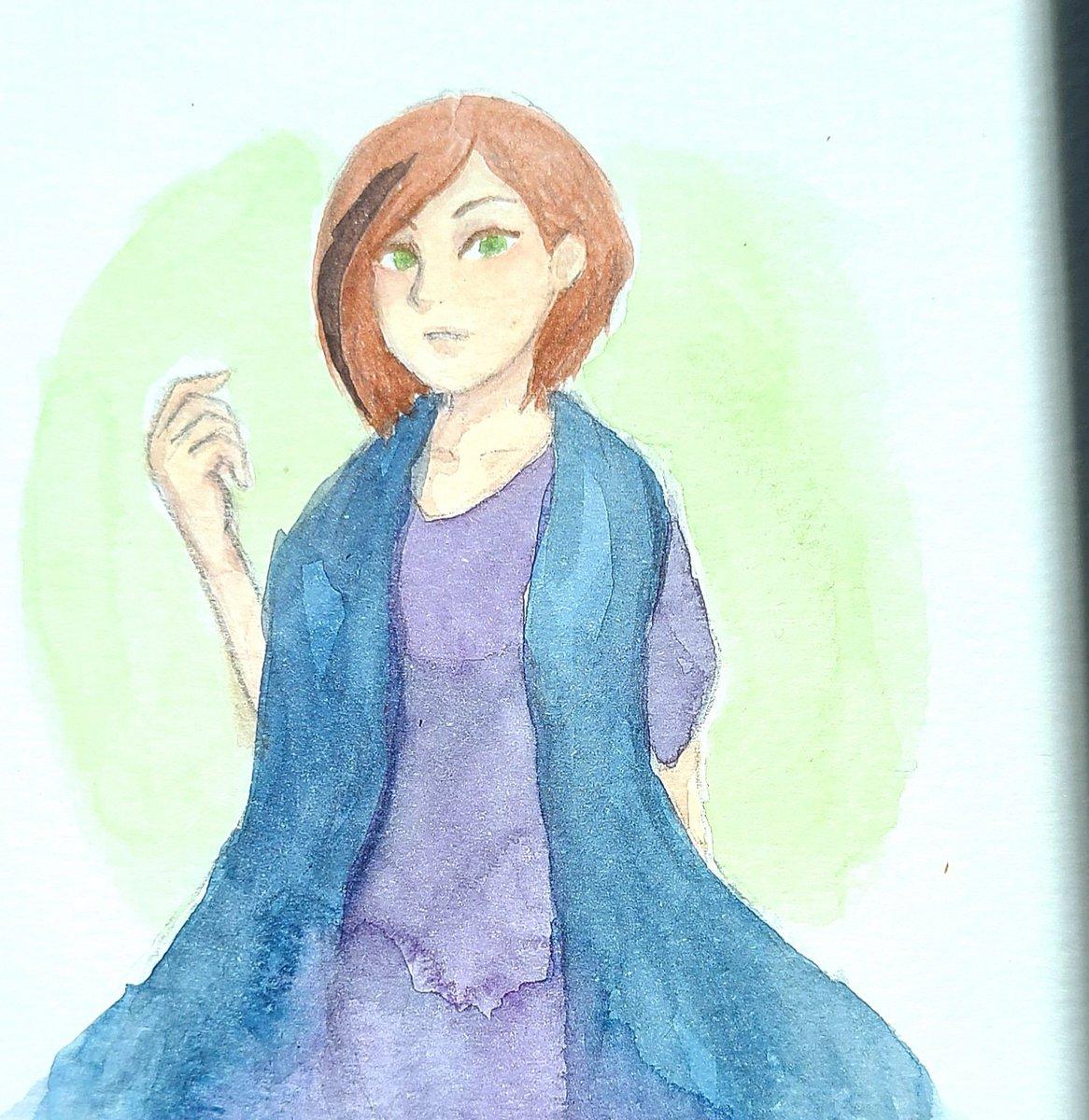Morning #watercolor #Warmup   Aka I just want to paint more Ellie 😅  #watercolour #watercolorart #art #sketchbook https://t.co/iutat8bEcn